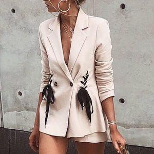 Lace up blazer - brand new